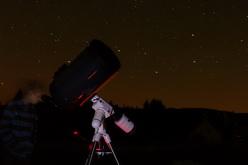 Astronomicko - kosmonautický tábor, pozorování dalekohledy